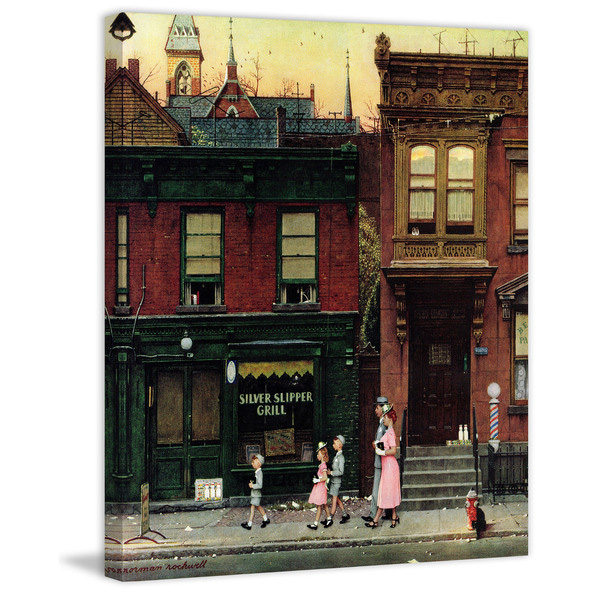 Marmont-Hill-Walking-to-Church-by-Norman-Rockwell-Painting-Print-on-Canvas-38003219-0cc4-42ac-98e3-e7970b584a8c_600